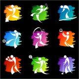 Iconos del deporte Fotos de archivo