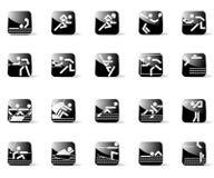 Iconos del deporte Imagenes de archivo