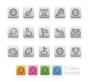 Iconos del deporte -- Botones del esquema Foto de archivo libre de regalías