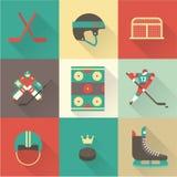 Iconos del deporte del hockey Fotos de archivo libres de regalías