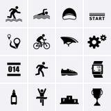 Iconos del deporte del Triathlon Imagen de archivo