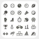 Iconos del deporte fijados Fotos de archivo libres de regalías