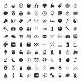 Iconos del deporte 100 fijados para el web Imagen de archivo