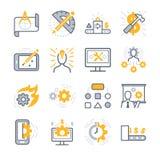 Iconos del desarrollo de negocios stock de ilustración
