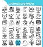 Iconos del desarrollo web libre illustration