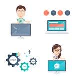 Iconos del desarrollo web fijados Fotos de archivo