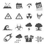 Iconos del desastre fijados Foto de archivo