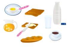 Iconos del desayuno Imágenes de archivo libres de regalías