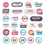 Iconos del descuento de la venta Muestras del precio de oferta especial Foto de archivo