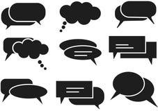 Iconos del diálogo fijados libre illustration