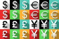 Iconos del dinero Imagen de archivo libre de regalías