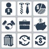 Iconos del dinero del vector fijados Fotografía de archivo libre de regalías
