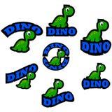 Iconos del dinosaurio libre illustration