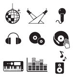 Iconos del disco o del club stock de ilustración