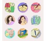 Iconos del diseño de la moda Fotos de archivo