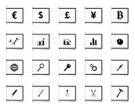 Iconos del diseño de la señal Imagenes de archivo