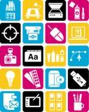 Iconos del diseño gráfico Fotografía de archivo libre de regalías