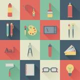 Iconos del diseño gráfico Fotografía de archivo
