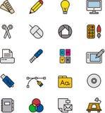 Iconos del diseño gráfico Imagenes de archivo