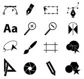 Iconos del diseño gráfico fijados libre illustration