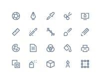 Iconos del diseño gráfico Línea serie Fotos de archivo libres de regalías