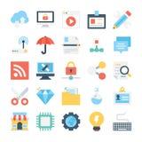 Iconos 6 del diseño web y del vector del desarrollo libre illustration