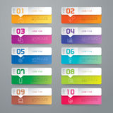 Iconos del diseño y del márketing de Infographic Fotografía de archivo libre de regalías