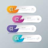 Iconos del diseño y del negocio de Infographic con 4 opciones stock de ilustración