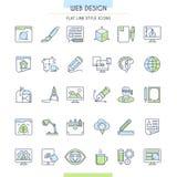 Iconos del diseño del sitio web Fotos de archivo