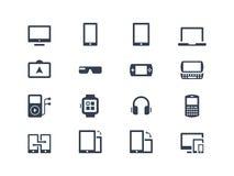Iconos del dispositivo adminículos Imagen de archivo