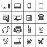Iconos del dispositivo de comunicación Imagen de archivo libre de regalías