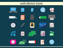 Iconos del dispositivo del web Imágenes de archivo libres de regalías