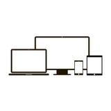Iconos del dispositivo electrónico Imagenes de archivo