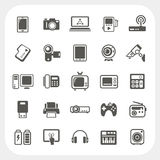 Iconos del dispositivo electrónico fijados Imágenes de archivo libres de regalías