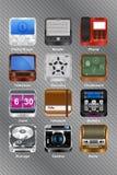 Iconos del dispositivo móvil Imagen de archivo libre de regalías