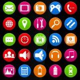 Iconos del dispositivo móvil Imágenes de archivo libres de regalías
