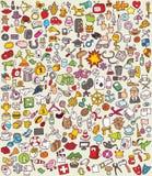 Iconos del Doodle de XXL fijados Fotografía de archivo libre de regalías