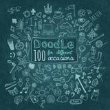 Iconos del Doodle fijados Imágenes de archivo libres de regalías