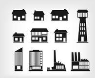 Iconos del edificio Imágenes de archivo libres de regalías
