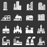 Iconos del edificio Fotografía de archivo libre de regalías
