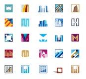 Iconos del edificio Foto de archivo