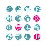 Iconos del edificio del círculo Stock de ilustración