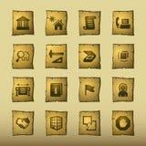 Iconos del edificio del papiro libre illustration