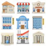 Iconos del edificio del vector