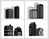 Iconos del edificio fijados Ilustración del vector Foto de archivo libre de regalías
