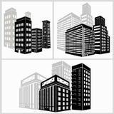 Iconos del edificio fijados Ilustración del vector Simplus Imagen de archivo libre de regalías