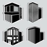 Iconos del edificio fijados Ilustración del vector Simplus Fotos de archivo libres de regalías