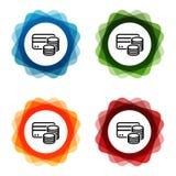 Iconos del efectivo de la tarjeta de cr?dito Vector Eps10 ilustración del vector