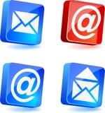 Iconos del email. ilustración del vector