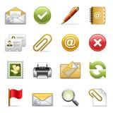 Iconos del email. Fotos de archivo